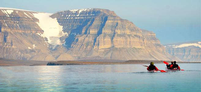 kayak-randonnée-spitzberg