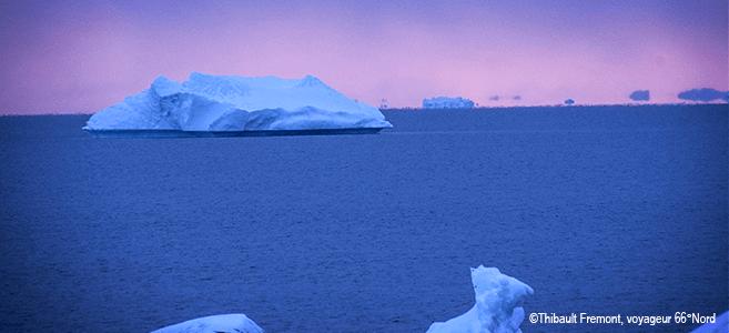 Photo d'icebergs