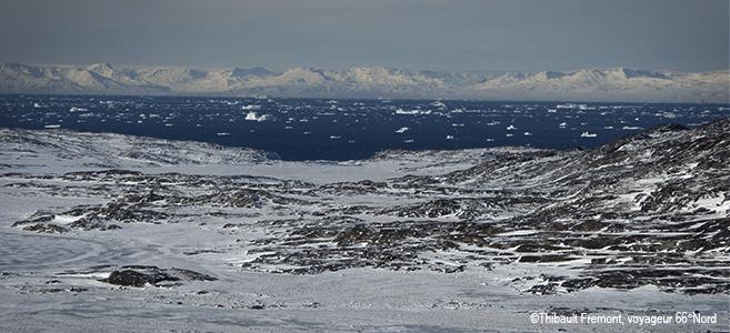 Photo fjord de glace