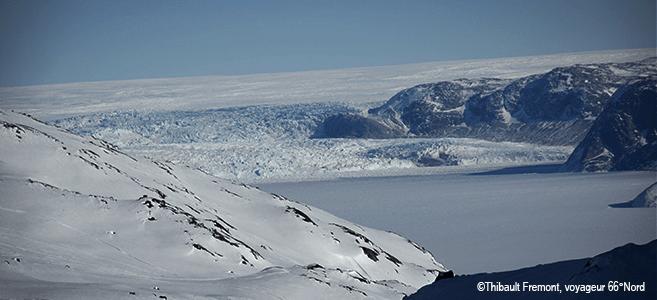 Photo d'un glacier