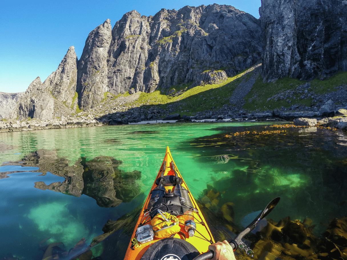 Randonnée kayak en Norvège