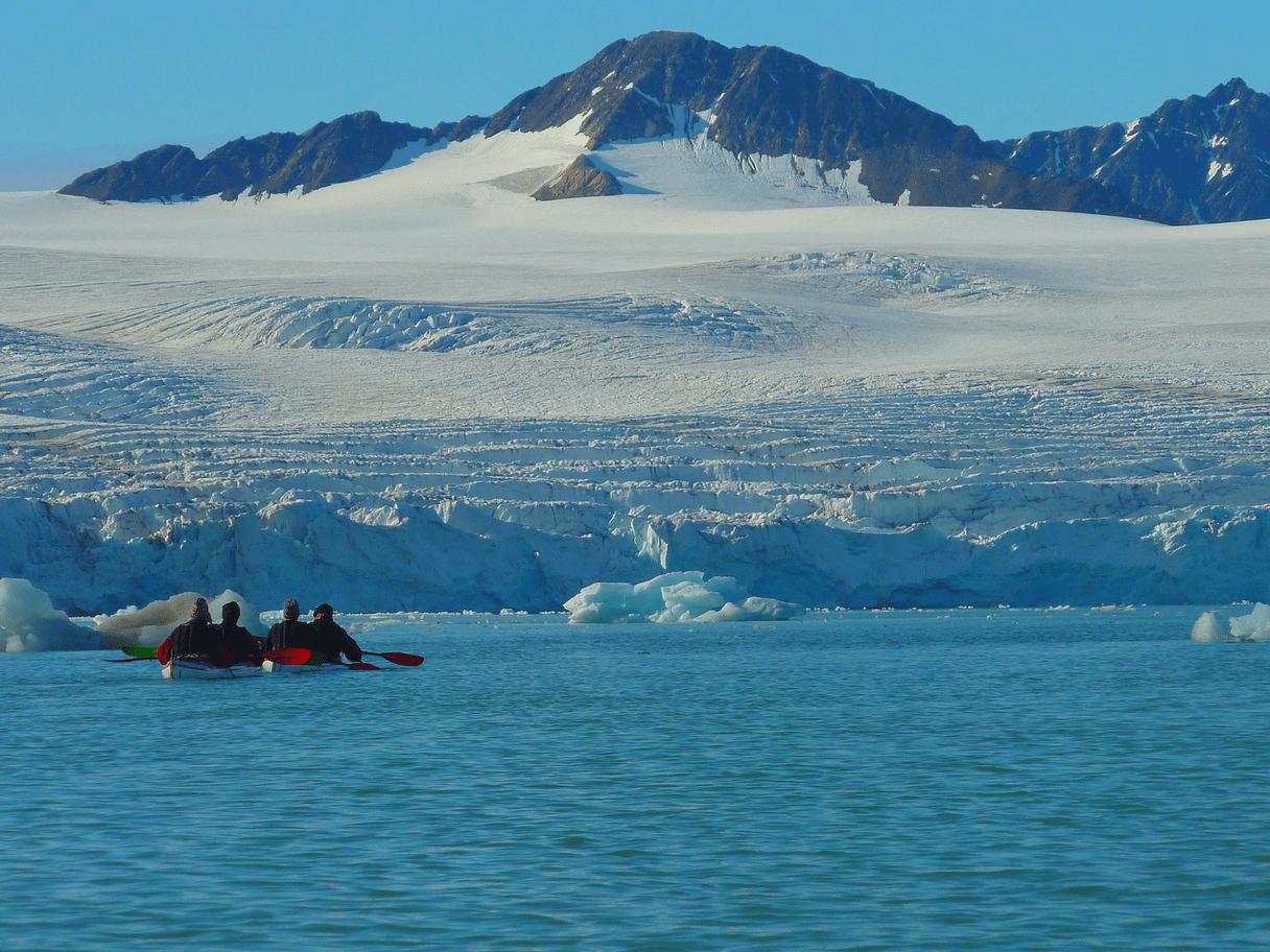 Randonnée kayak au Spitzberg