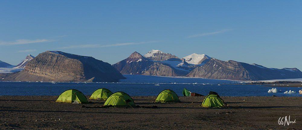Camp au Svalbard
