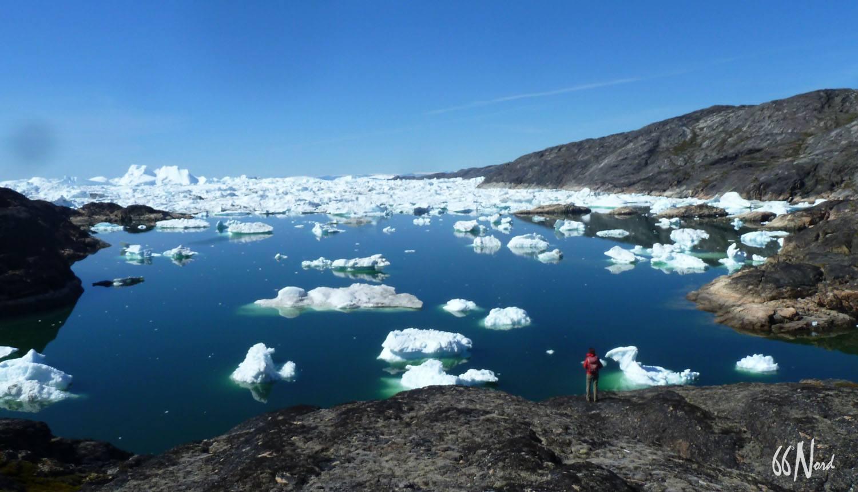 Voyage au Groenland, vue sur les icebergs