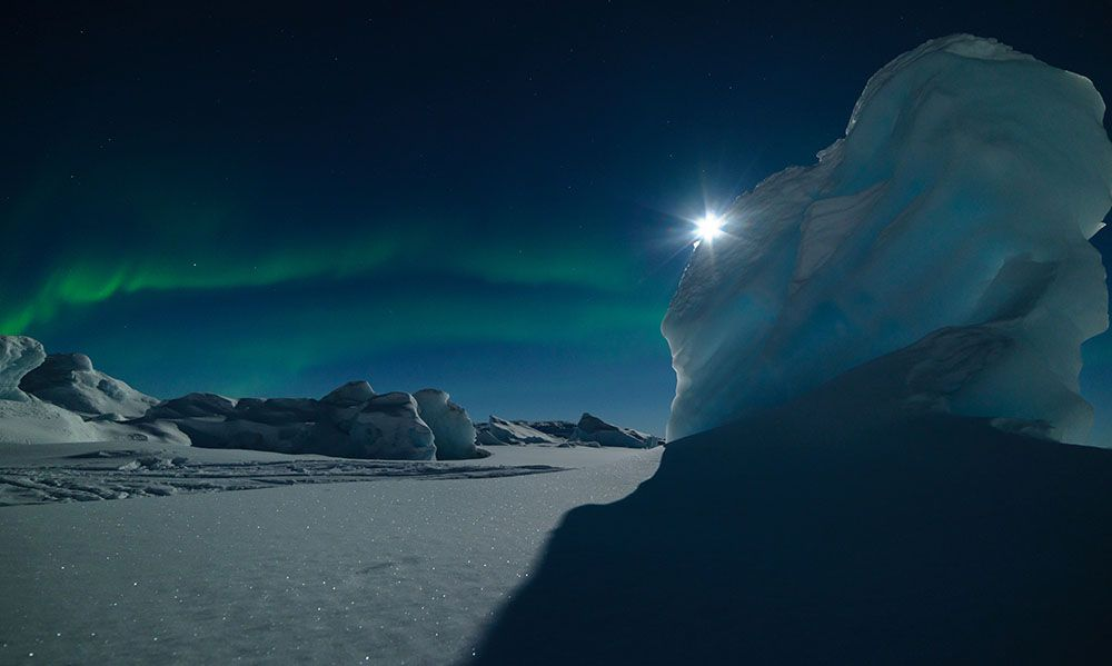 Aurores boréales au Groenland