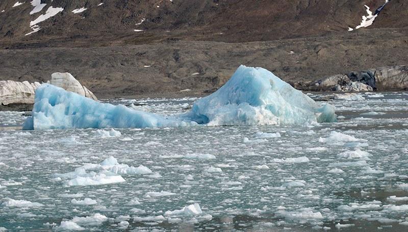 Brash et icebergs au Svalbard