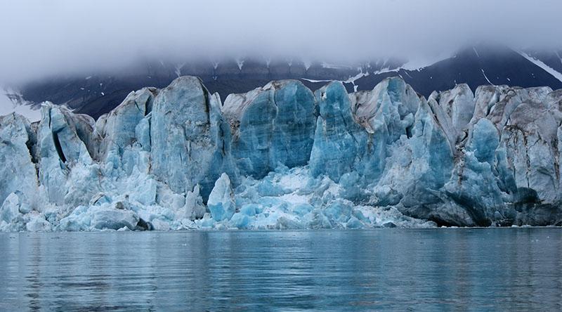 Glacier de Svéa au Spitzberg, Svalbard