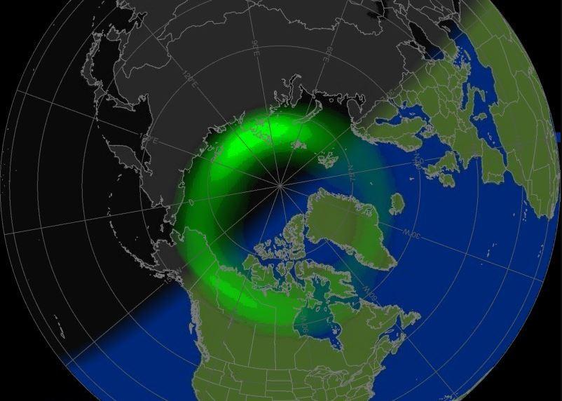 Zone aurorale pour prévoir les aurores boréales.