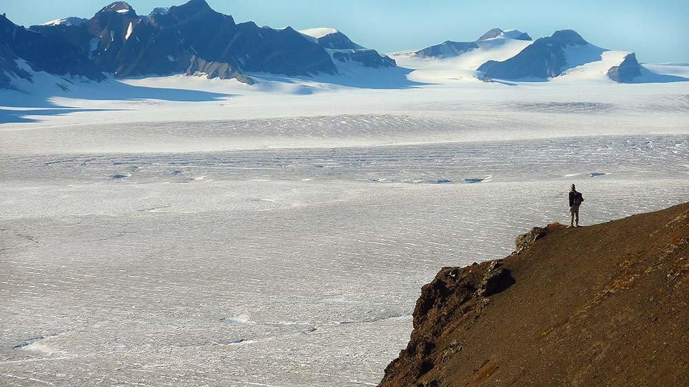 Paysage arctique Svalbard, Spitzberg