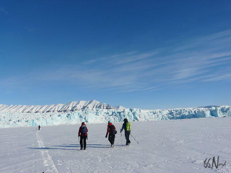 Raquettes jusqu'au glacier, Svalbard