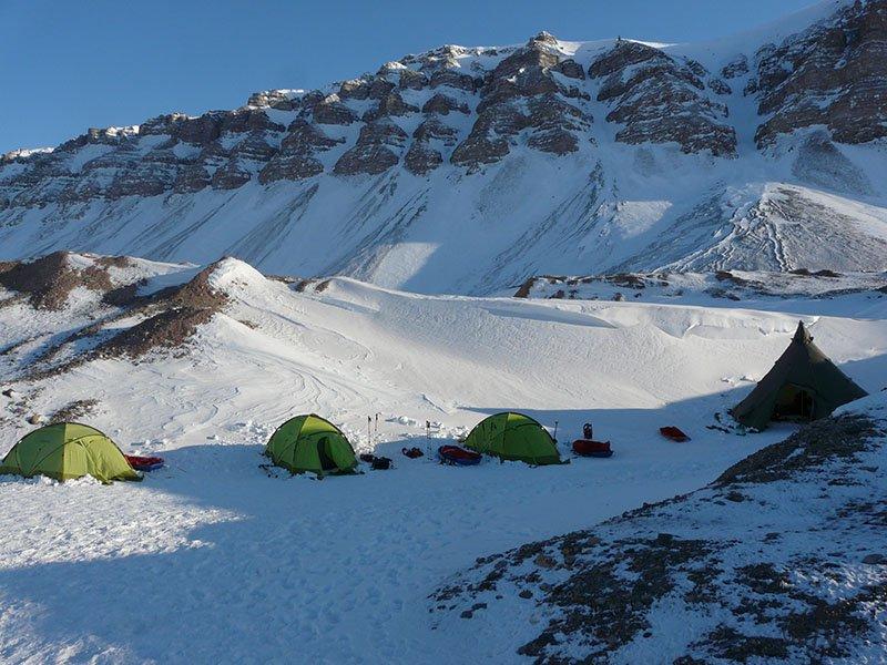 Camp au Spitzberg, Svalbard