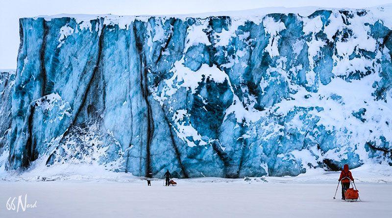 Glacier en arctique, Spitzberg, Svalbard