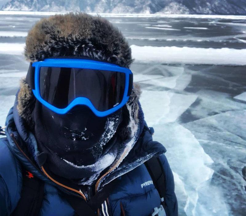Hervé Bouty au baikal en Sibérie ©Hervé Bouty