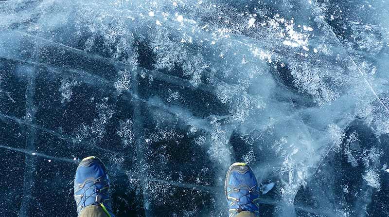 Voilà sur quoi on marche, et c'est beau ! ©Quentin Beauvy, responsablle 66°Nord