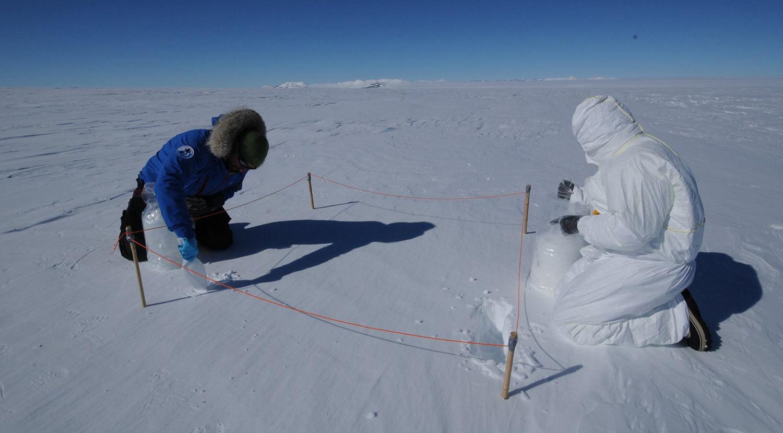Equipe scientifique en Antarctique ©Manu Poudelet