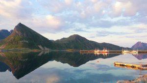 Norvège au coucher du soleil