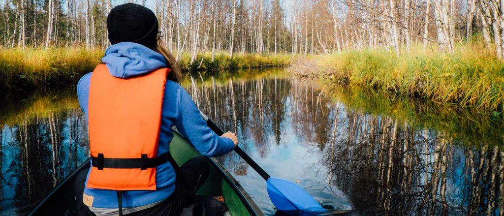 Canoë en Finlande