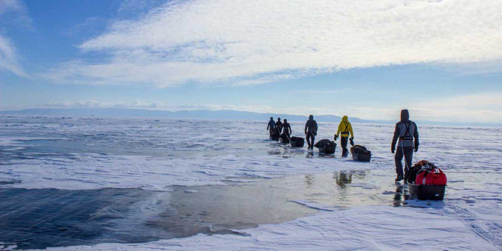 La traversée du Baikal © Flo Le Priol - voyageuse 66°Nord