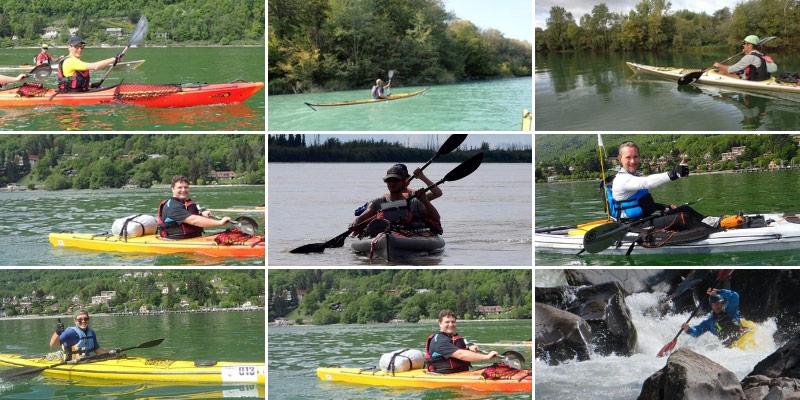 Equipe aventure Hustive en préparation kayak