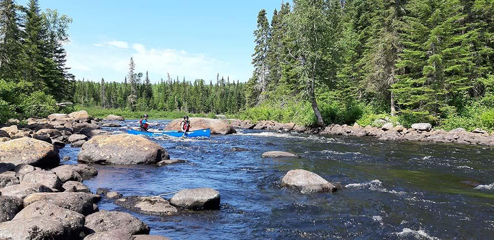 Voyage canoe au Québec, Alex et moi © 66°Nord