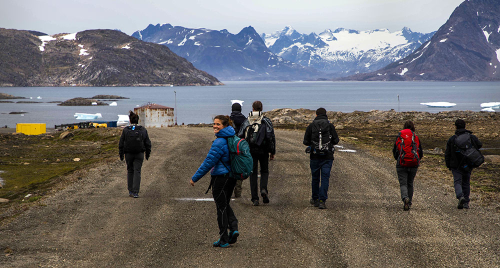 Laurine arrive sur le territoire groenlandais ©Laurine Bertrand, équipe 66°Nord