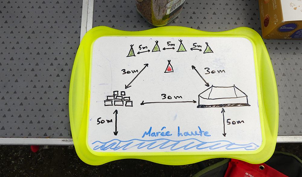 Brief organisation du campement ©Laurine Bertrand