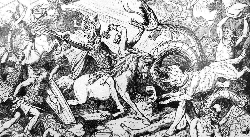 bataille sur la plaine de Vígríd. Johannes gehrts