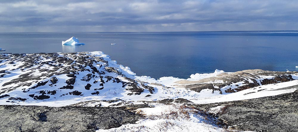 paysage glacé au Groenland