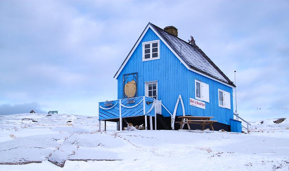Maison colorée de Oqaatsut ©Elodie Roux