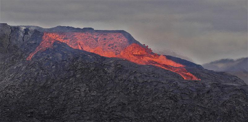 Volcan Fagradalsfjall en Islande ©Clément Legain, guide 66°Nord